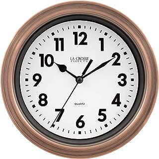 Lacrosse BBB85296 7 Inch Metal Copper Finish Quartz Wall Clock,