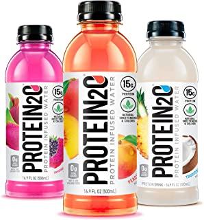 Protein2o 15g Whey Protein Infused Water, Flavor Fusion Variety Pack, 16.9 oz Bottle (Pack of 12)