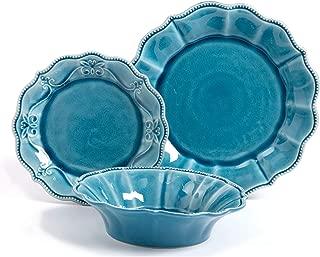 The Pioneer Woman Paige 12-Piece Dinnerware Set (Denim)