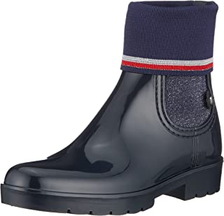 Tommy Hilfiger Damen Knitted Sock Rain Boot Gummistiefel