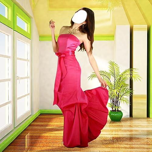 Mujeres Vestido largo Foto Montage