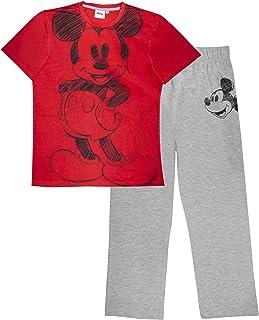 Disney Mickey Sketch Men's Long Pyjamas Set | Official Merchandise | Mickey Mouse Nightwear, Gift Idea For Men