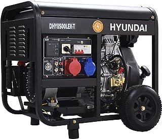 Hyundai DHY8500LEK-T Generador Diésel FullPower, Negro, Mediano