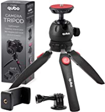 qubo Mini Tripod Camera Holder - Premium Tabletop Small Phone Tripod Mount for GoPro iPhone / Cell Phones Webcam Projector...