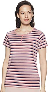 Sugr Women's Striped Slim fit T-Shirt