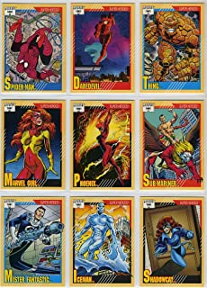 marvel trading card sets