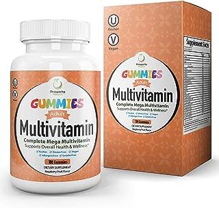 Adult Multivitamin Gummies by Prosperity Health ®| Raspberry Flavor Mens & Womens Multivitamin Gummies 100 Count (50 Day Supply)| Vegan, Kosher, Gluten Free, Allergen Free, Gelatin Free