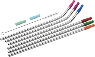 Cuisinart CTG-00-SSSM Stainless Steel Straw Set with Silicone Tips, Silver