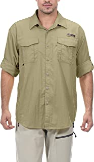 Little Donkey Andy Men's UPF 50+ UV Protection Shirt, Long Sleeve Fishing Shirt, Breathable and Fast Dry