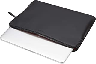 """Knomo Embossed 15"""" Laptop Sleeve, Slim, Lightweight Leather Laptop Sleeve Compatible with 15"""" Laptops, with Device Protect..."""