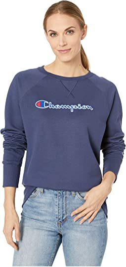 Powerblend® Fleece Boyfriend Crew - Applique Y07461