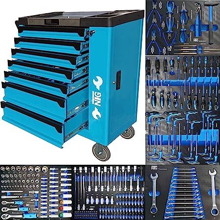 Carro de herramientas para taller con insertos de espuma