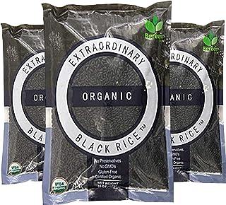 Bgreen Organic Black Rice Pack of 3 Non-GMO Kosher Gluten Free 3 lbs