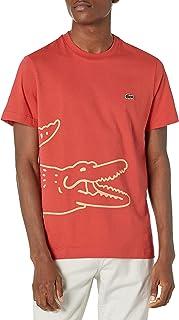 Lacoste Men's Short Sleeve Wrap Around Big Croc Graphic T-Shirt