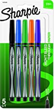 Sharpie Pens, Fine Point (0.8mm), Assorted Colors, 5 Count(packaging may vary)