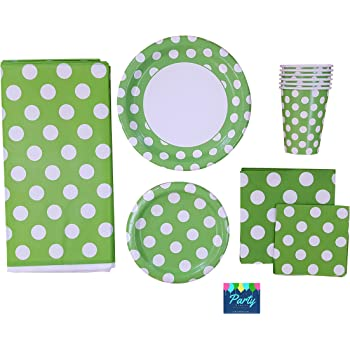 Plus Party Planning Checklist by Mikes Super Store Fresh Lime Green Fractal Geometric Triangles Party Supplies Bundle Pack for 16 Napkins and Table Cover Green Plates