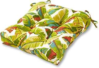Greendale Home Fashions Indoor/Outdoor Chair Cushion, 20-Inch, Palm Multi