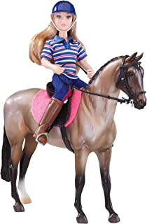 Breyer Freedom Series (Classics) English Horse & Rider Doll Set   (1:12 Scale)   Model #61114,Multicolor