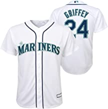 Ken Griffey Jr. Seattle Mariners White Youth Cool Base Home Jersey