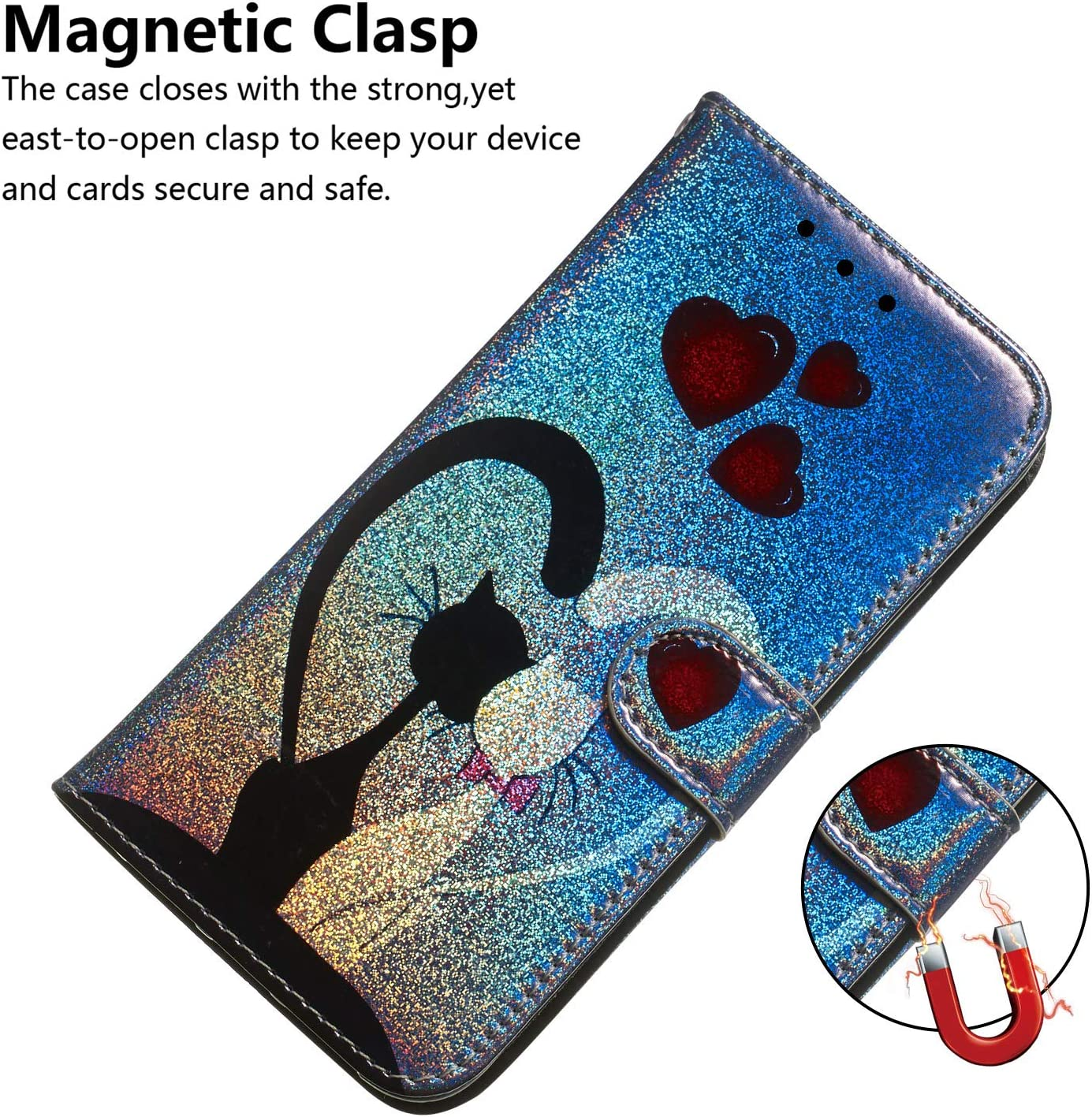 Shockproof Flip Case Cover for Huawei Honor20 LOTXI150421 L10 Lomogo Leather Wallet Case for Huawei Honor 20 with Stand Feature Card Holder Magnetic Closure