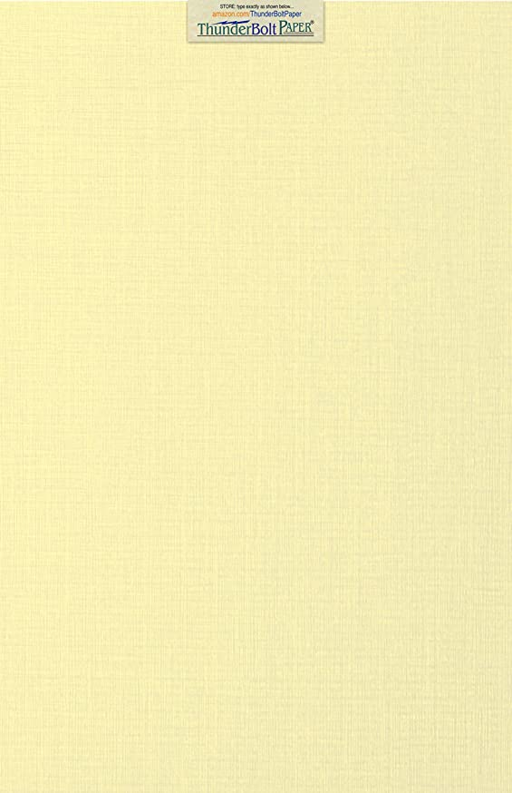 15 Ivory Linen 80# Cover Paper Sheets - 12