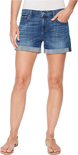 7 For All Mankind Mid Roll Shorts in Broken Twills Desert Trails