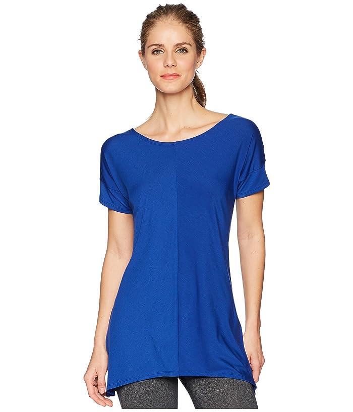 ExOfficio Wanderluxtm Cross-Back Short Sleeve Top (Blue Glaze) Women