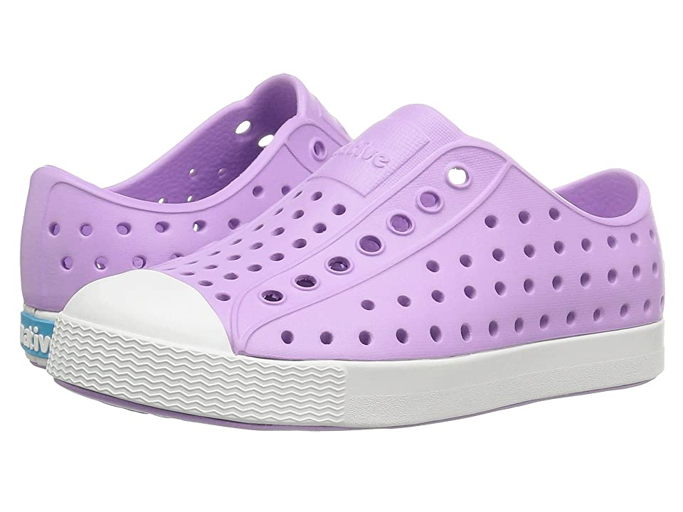 Native Kids Shoes Jefferson (Toddler/Little Kid) (Lavender Purple/Shell White) Girls Shoes