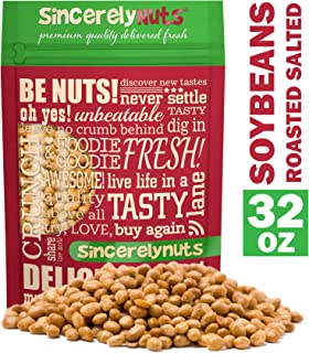 Sincerely Nuts Roasted Soybeans Lightly Salted (2 LB) - Healthy Fat - Vegan & Kosher - Easy Snack -Gluten-Free