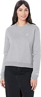 Calvin Klein Jeans Women's Boxy Crew Neck Sweater, Light Grey Heather, M