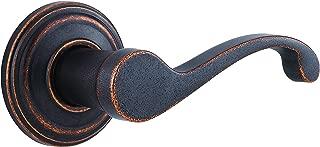 Kwikset Commonwealth Right-Handed Half-Dummy Lever in Rustic Bronze