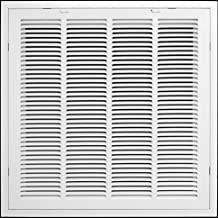 """Sponsored Ad - 20"""" X 20"""" Return Air Filter Grille Filter Included - Removable Face/Door - HVAC Vent Duct Cover - White [Ou..."""