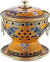 ZFQZKK Chinois Traditionnel Mongol Hot Pot Charcoal Simple Charbon Cuisine Chaude Cuisine Distribuée Vieux Fashioned Soup ...