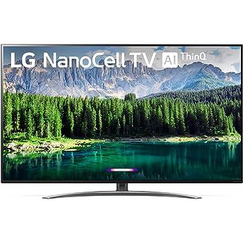 "LG 55SM8600PUA Nano 8 Series 55"" 4K Ultra HD Smart LED NanoCell TV (2019), Black"