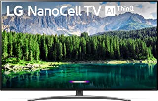 "LG 55SM8600PUA Nano 8 Series 55"" 4K Ultra HD Smart LED NanoCell TV (2019), Black"