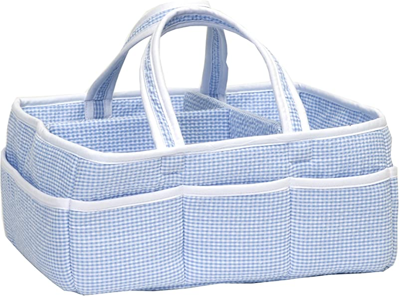 Trend Lab Gingham Seersucker Storage Caddy Blue