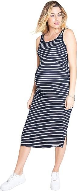 Maternity Rib Tank Midi Dress