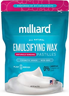 Milliard Non-GMO Emulsifying Wax Pastilles NF � 8 OZ. Resealable Freshness Storage Bag