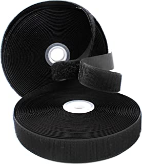 YKK Sew on Hook and Loop Fastening Products Group Tape 1 Inch Black Style 10 Yards/roll