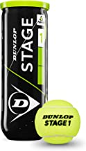 Dunlop Tennisbälle Mini Tennis Stage 1 3er, Gelb/Grün, One size