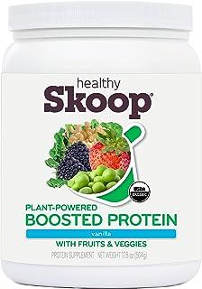 Healthy Skoop Organic, Plant-Powered, Boosted Protein, Vanilla, 17.8oz