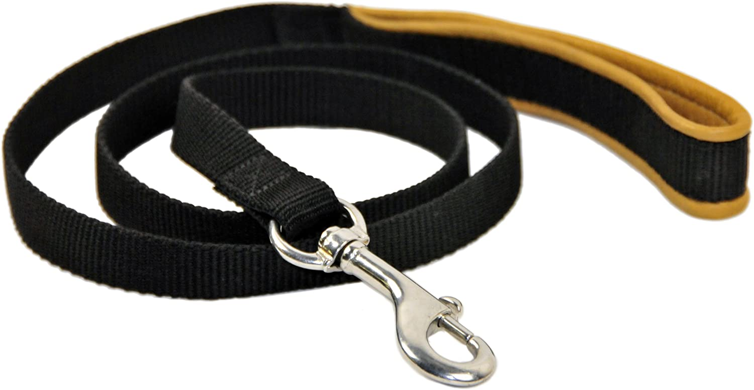 Dean Tyler Padded Puppy Double OFFicial mail Popular brand order Ply Nylon with Dog Brown Leash