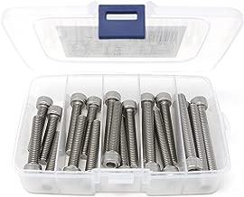 iExcell 20 Pcs M8 x 40mm/45mm/50mm/55mm/60mm Stainless Steel 304 Hex Socket Head Cap Screws Bolts Kit, Fully Threaded