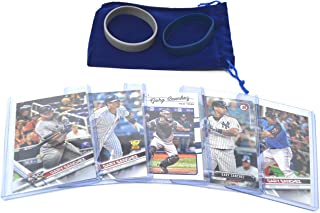 Gary Sanchez Baseball Cards Assorted (5) Gift Bundle - New York Yankees Trading Cards