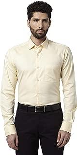 Park Avenue Solid Cotton Medium Yellow Slim Fit Ainsley Full Sleeve Shirt