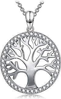 Sellot Collares Mujer Plata Árbol de la Vida Colgante Circonita Cúbica 5A, Joyas Mujer Regalos Originales para Mujer, Eleg...