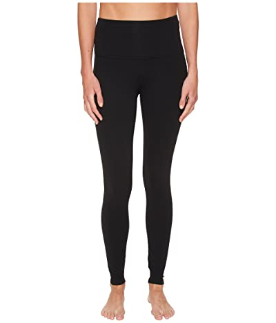 Beyond Yoga High Waisted Midi Leggings (Jet Black) Women