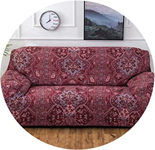 Old street slipcovers Sofa Tight wrap All-Inclusive Slip-Resistant sectional L-Shape Corner Sofa Cover Elastic Couch Cover 1/2/3/4 Seater,Color 22,4-Seater(230-300cm)