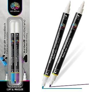OfficeTree 2x Crayon Couture Auto-Disparaissant et Soluble Dans L'Eau - Feutre Couture Effacable - Stylo Couture Effacable...