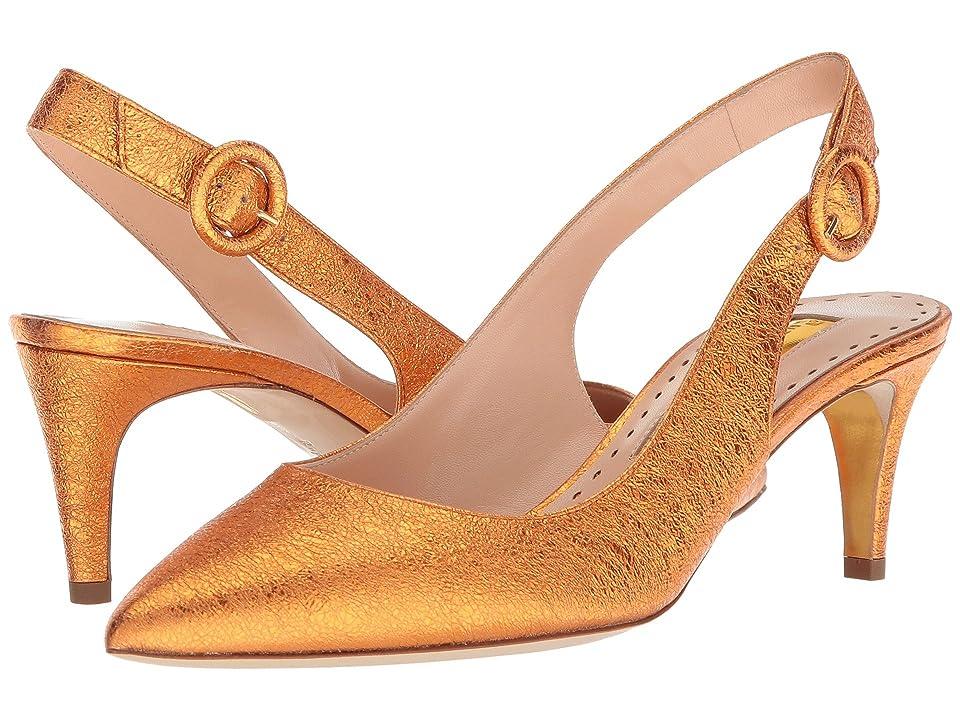 Rupert Sanderson Diana (Tangerine Crush Laminate) High Heels